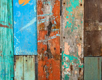 Old painted wooden planks, background and texture Royalty Free Stock Photography