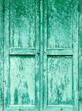 Old painted wooden shutters Stock Images