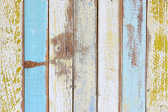 The old painted wooden wall. With  variety color Royalty Free Stock Photography