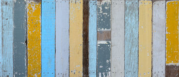 The old painted wooden wall. With  variety color Stock Image