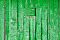 Old painted wooden wall texture or background with copy space.  planks   green. Stock Images