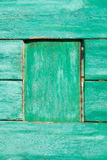 Old painted wooden wall texture or background with copy space.  planks   green. Stock Photos