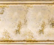 Old painting wall with frame victorian Stock Photo