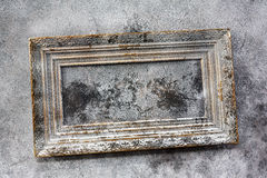 Old painting in wooden frame on wall Royalty Free Stock Photos