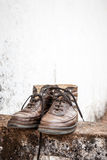 Old pair of boots Royalty Free Stock Photo