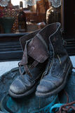 Old pair of leather boot Royalty Free Stock Image