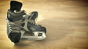 Old pair of skates Royalty Free Stock Image