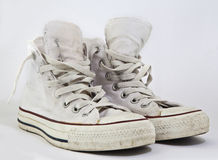 Old pair of sneakers Royalty Free Stock Images