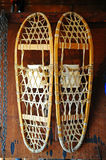 Old pair of snow shoes Royalty Free Stock Images