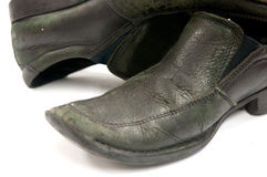 Old pair of used shoes Royalty Free Stock Photography