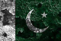 Old Pakistan grunge background flag.  Stock Photography