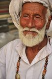 Old Pakistani man. With traditional outfit and necklace Stock Photography