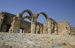 Old palace. A historical place with an old palace in cyprus Royalty Free Stock Photo