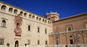 OLD PALACE IN ALCALA DE HENARES Royalty Free Stock Photography