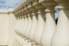 Old palace balcony with pillars Royalty Free Stock Photography