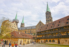 Old palace and Bamberg Cathedral in the Bamberg city center Royalty Free Stock Photography