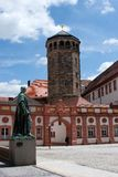 Old palace and church tower - Bayreuth. The old palace (Altes Schloss) of Bayreuth (Germany, Bavaria) with the church tower Royalty Free Stock Photo