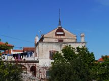 An old palace in the Croatian village Betina Stock Photography