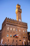 Old Palace at evening, Florence Stock Photos