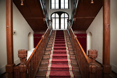 Old palace interior - wooden stairs Royalty Free Stock Photography