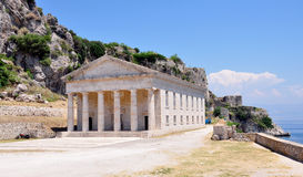 Old palace on the island of Corfu, Greece. View of an old palace on the island of Corfu, Greece Stock Photos