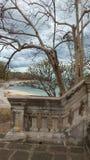 Old palace on isolate island Stock Photo