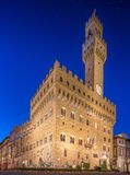 The Old Palace at night in Florence Royalty Free Stock Photo