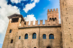 The old palace of the podestà  in Bologna Royalty Free Stock Photo
