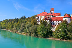 Old palace by river in Fussen Royalty Free Stock Photos