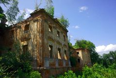 Old palace in ruins Royalty Free Stock Images