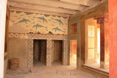 Old palace ruins in Knossos Stock Photo