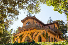 Old palace in Sintra inside Pena Gardens Royalty Free Stock Images