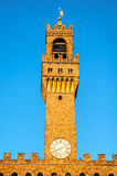 Old Palace tower in Florence Royalty Free Stock Photo