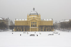 Old palace in the winter.  Stock Photos
