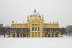 Old palace in the winter Royalty Free Stock Photo