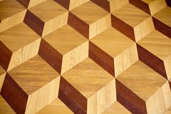 Old palace wooden parquet flooring design Stock Photo