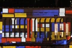 Old Palais de Justice während Party-DES lumieres Stockbild