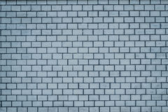 An old pale blue brick wall texture for background Stock Photography