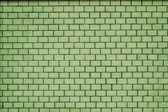 An old pale green brick wall texture for background Royalty Free Stock Photography