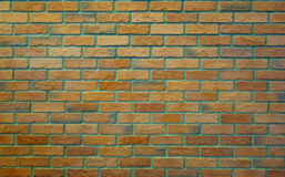Old Pale Orange Green Brick Wall Texture. Vintage Background Royalty Free Stock Photo