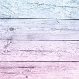 Old pale pink blue ombre plank wood Stock Photography