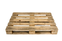 Old pallet, studio shot Royalty Free Stock Images