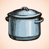 Old pan. Vector drawing Royalty Free Stock Image