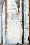 Old Panel with Cracked Paint, Background Stock Photo