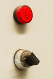 Old panel switch is running the machine Royalty Free Stock Photos