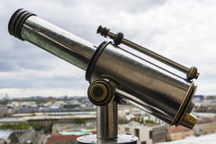 Old panoramic telescope in the Berlin Cathedral in Germany Royalty Free Stock Photos