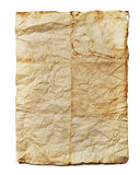 Old paper. Vintage aged old paper background with space for text Royalty Free Stock Photography