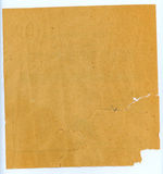 Old paper. Back of a fragmentary sheet of the old paper instruction to the household kitchen device Royalty Free Stock Image