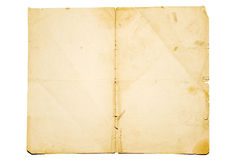 Old paper. Isolated on white background royalty free stock images