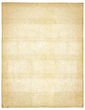 Old paper. Page of vintage paper with watermarks isolated on white background royalty free stock photos